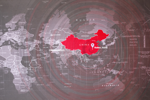 Coronavirus,Pandemic,And,Outbreak.,Wuhan,China,Map,That,The,Place
